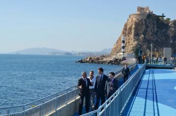 inauguración paseo marítimo puerto pesquero