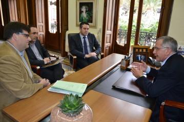 reunión del director general de Formación Profesional con el alcalde de Águilas