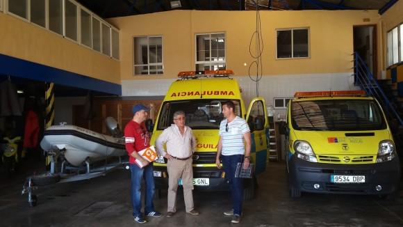 Ambulancia fuera de uso