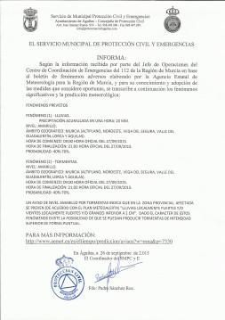 AVISO METEOROLOGICO 26092015