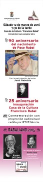 Tres actos en torno a Paco Rabal