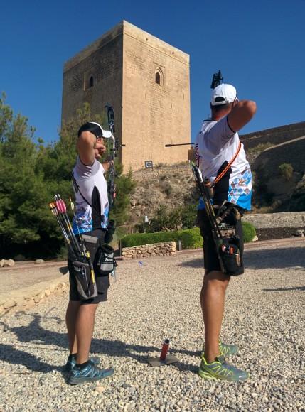 Territorial tiro arco Campo Castillo Lorca 04.09.2016. Arqueros soltando flechas 7