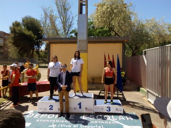 Helena Jiménez Ramón arcas campeona peso cadete femenino